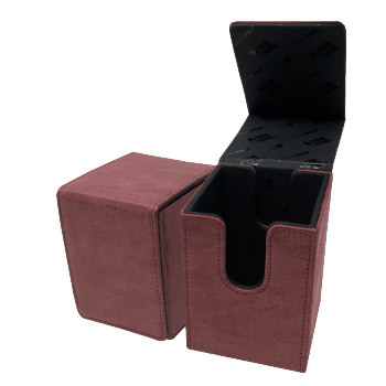 Deck Box Alcove Flip Ruby Suede Collection