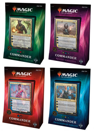 COMMANDER 2018 - les 4 packs VF